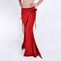 Pants Women Flare Belly Dance Dancing Wear Costume Tribal Pants Attached Skirt Trousers #C1151