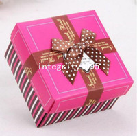 April Fool's Day baby shower gifts cheap - DIY Rose Red Paper Gift Wedding Party Baby Shower Favor Candy Boxes Craft Cake Box Cheap Favor Box