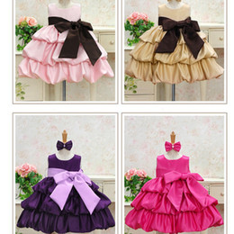 Wholesale Girls bow dress princess dress tutu skirt lff