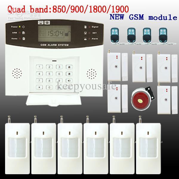 GSM SMS Home Burglar Security Alarm System Detector Sensor Kit Remote  Control. GSM SMS Home Burglar Security Alarm System Detector Sensor Kit