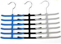 Plastic velvet hangers - NEW Closet Organizer Velvet Necktie Rack Neckerchief Rack Wonder Rack Magic Hangers Space Saving Hanger