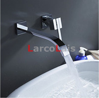Waterfall Widespread Contemporary Bathroom Water Tap Sink Sa...