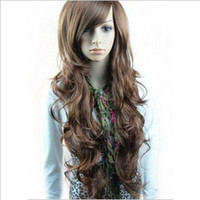 Asian Wigs beauty bang bangs - Japan and South Korea fashion hairstyle long Curly hair inclined bang fluffy beauty wig t5603