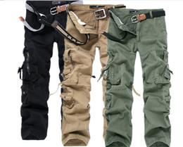 Pantalones de Carga de los nuevos hombres, Ocio Pantalones sueltos pantalones cargo de los pantalones de los hombres