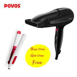 Wholesale POVOS PH9038 Hair Dryer US Standard V HZ Professional Ionic Aquaion Salon PR2011 Professional Hair Straightener