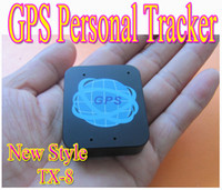 Wholesale High quality Mini GPS TX personal tracker Newnest Mini GSM GPRS Network GPS SMS SOS Voice Kid Real Time Tracking