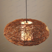 rattan - LLFA1379 Black Brown Handmade Pumpkin Rattan quot Ceiling Fixture CEILING LIGHTS Fixture Chandelier Light