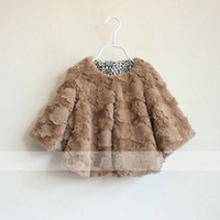 Wholesale Fur Coat Long Sleeve Tops Children Outwear Winter Coats Girls Overcoat Child Wear Kids Casual Coat Fashion Leopard Print Coats Girl Clothes