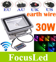Wholesale Crazy Price W RGB LM Outdoor LED Floodlight Waterproof Dimmable Colors Remote Controler Garden Landscape Light EU AU UK US Plug