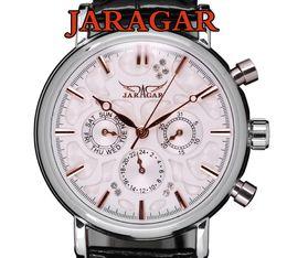 Swiss Automatic Mechanical 6 Hands Mens Watch Wrist watch jaragar brand 6 Hands All of the series 30pcs lot DHL free shipping