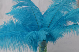 Wholesale 100pcs lot 14-16inches turquoise ostrich feather plumes for wedding centerpiece table centerpiece wedding decor supply