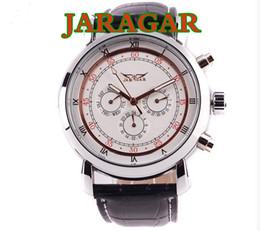 Best price for All jaragar brand luxury automatic mechanical 6 Hands men watch 30pcs lot DHL free shipping