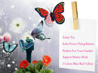 solar butterfly - Funny Toy Solar Butterfly Dancing Flying Butterflies Solar Power Bug Insects Support Battery For Decoration Garden Yard Balcony Set TN014
