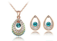 Wholesale Crystal act the role ofing is tasted Austrian crystals set necklace earrings tianzhu princess B84A28