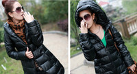 Wholesale New Fashion Winter Women PU Leather Slim in the Long Down Cotton Coat SF08