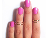 Wholesale Rings Urban stack Plain Cute Above Knuckle Ring Band Midi Ring gold silver new jewelry