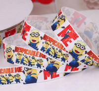 Wholesale 2013 new arrival mm Despicable Me printed grosgrain ribbon cartoon ribbon movie characters ribbon yards