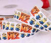 print ribbon character ribbon - 2013 new arrival mm Despicable Me Minions printed grosgrain ribbon cartoon ribbon movie characters ribbon yards