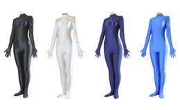 New! Lycra Spandex Women's Catsuit Unitard, with Hands & Feet, Back YKK Zip, 5 sizes
