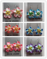 flower polymer clay beads - Hot Newest Statement Fashion FIMO Polymer Clay Mixed Flower Spacer Charms Beads Earring Making Jewelry DIY