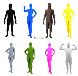 Wholesale Solid Color Lycra Spandex Zentai Suits Black White Red Blue Green etc