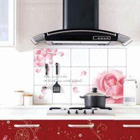 Graphic vinyl PVC Animal Freeshipping 5pc lot aluminum foil oil pollution smoke tile kitchen cabinet decoration stickers