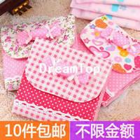 Fabric Bedding  2pc lot Bow sanitary napkin bag storage bag night use sanitary napkin bag candy sanitary napkin bag