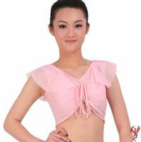 Belly Dancing Ruffled Cotton New Womens Tribal Gypsy Belly Dance Costume Cotton Blouse Tops Bra #C1158