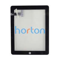 Wholesale Black Digitizer Touch Screen Panel for Apple iPad Front Glass Faceplate Repair Part Replacement AF055