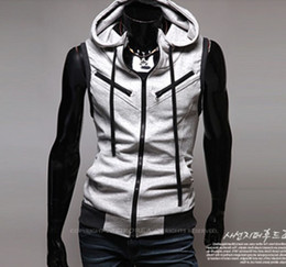 Wholesale 2012 Spring Men s Hooded Zipper red wine and more academic style knitted men s fashion casual vest