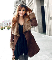 Wholesale New Fashion Women Winter Coat Oversized Fur Faux Fur Collar Long Slim Double breasted Quilted Coat With Large Yards SF08