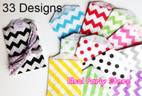 Wholesale Colorful Chevron Striped Dots Favor Bags Bitty bag Party Food Paper Bag quot x7 quot colors