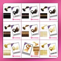 Brazilian Hair Mix Color Straight 100 pcs 22' inch Keratin Pre Bonded flat Nail U Tip Remy Human Hair Extensions free shipping