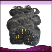 Wholesale 12 quot g pc Malaysian Human Hair Natural Color Weave Extension Body Weave