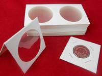 Wholesale 50pcs box paper clip carboard for coin album coin collection book cion stock book coin holder