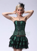 Wholesale Cheap Corsets for Women Green Corset Suits Adjustable Rubber Bonds Stretch Fit New Arrival Sexy Party Wear Discount