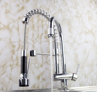 Wholesale Pull Out swivel Kitchen Sink Tap Chrome Faucet hejia1
