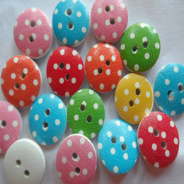 13 mm color buttons 2 holes wooden children DIY good tool ship free