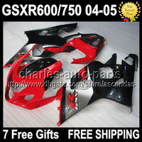 7gifts+ Seat Cowl Hot red black For SUZUKI K4 GSXR 600 750 04...