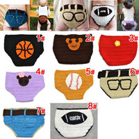 Wholesale Retail Novel Baby Knit Nappys Handmade Infant Knitting Diapers Children s Briefs Baby Boxers Children s Underwear Color U Choose for T