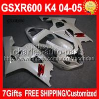 7gifts+ Cowl Pearl White !! Of SUZUKI GSX- R600 GSXR600 04 05 ...