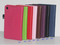 nexus 7 2013 - 2013 New Google Nexus Leather Case High Quality Lichi Texture PU Leather Flip Cover Case For Goolge Nexus II nd Generation