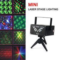 Wholesale Mini Holographic Laser Projector Stage Lighting Party with Remote Shapes CES