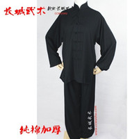 Wholesale Taiji uniform taichi cotton clothes chinese kungfu traditional wushu dress wushu china kungfu uniform