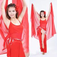 belly dance - Women Girls Belly Dance Chiffon Shawl Veil Long Scarf Towel Multi Use x122cm