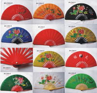 Wholesale Performing martial tai chi fan fan fan fan full red tai chi tai chi kung fu tai chi chic Fan Fan