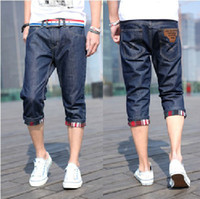 Wholesale Fashion jeans underwear cheap jeans for men hot capris men jeans mens jeans trousers Jeans casual trousers