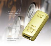 Wholesale 5 Piece No Printing G Gold Bar Capacity Enough U Disk USB Flash Drive Gold Bar U Disk