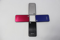 Wholesale 10 Colorful Brushed Metal cell Phone Case for iphone4S iphone4