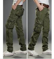 Wholesale Plus Size Pants Men Korean Pants For Men Cargo Pants Black Grey khaki Army Green Hip Hop Male Pants AMY8